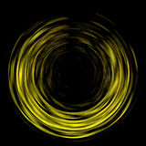 Abstract spin spinning background. Abstract yellow color spin. Colorful spinning light motion blur in dark background. Rotate blurred lighting effect pattern Stock Image