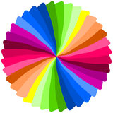 Color spiral. Royalty Free Stock Images