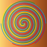Color spiral on a beige background, abstraction 1 Royalty Free Stock Photo