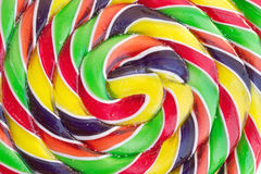 Color spiral candy closeup Royalty Free Stock Photography