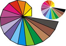 Color spiral isolated Stock Photo
