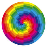 Color spiral with overlaying colors Royalty Free Stock Photography