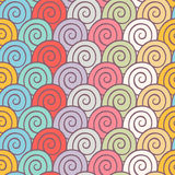 Color spirals Stock Image