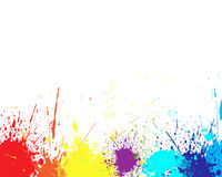 Color splash. In abstract isolated on white background Royalty Free Stock Photo