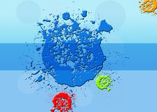 Color Splash Background. Stock Photo