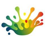 Color splash crown Stock Photo