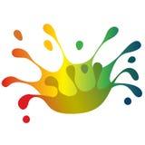 Color splash crown Stock Photos