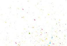 Color splash watercolor. Randomly scattered colorful splashes on a white background vector illustration