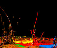 Color splashes Royalty Free Stock Image