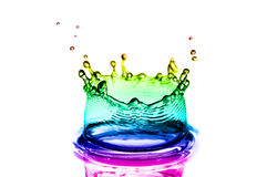 Color splashes of water stock images