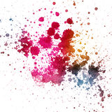 Color splatter on white background Royalty Free Stock Images