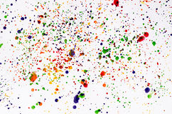 Color splatter. On white background stock images