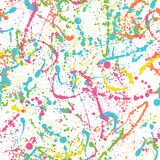 Color splatters pattern Stock Images