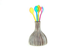 Color spoon Stock Photo