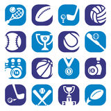 Color sports icons Stock Image