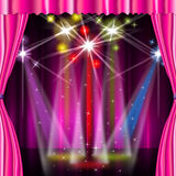 Color Spotlight Means Stage Lights And Vibrant Royalty Free Stock Photos