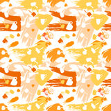 Color spots coffee seamless pattern Stock Photos