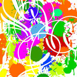 Color Spots. White Curves. Vector illustration. No Meshes Royalty Free Stock Photos