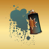 Color spray aerosol Royalty Free Stock Photo