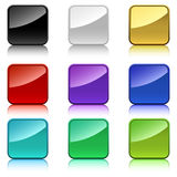 Color square buttons Royalty Free Stock Images