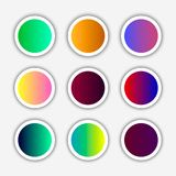Color square buttons. Modern bright buttons for design in the style of flat. Vector illustration royalty free illustration