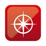 color square with compass icon Royalty Free Stock Photography