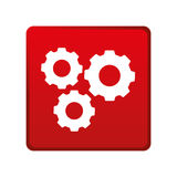 Color square emblem with gear wheels Royalty Free Stock Photography