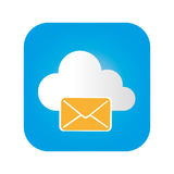 Color square frame with mail cloud service Royalty Free Stock Image