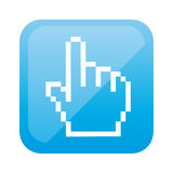 color square with hand cursor icon Royalty Free Stock Photo