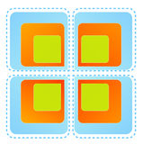 Color square pattern Royalty Free Stock Photo