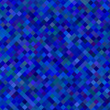 Color square pattern background - geometrical vector graphic from diagonal squares in blue tones. Color square pattern background - geometrical vector graphic Royalty Free Stock Photo