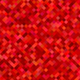 Color square pattern background - geometrical vector graphic from diagonal squares in red tones. Color square pattern background - abstract geometrical vector Stock Photos