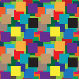 Color Square vector pattern Royalty Free Stock Photo