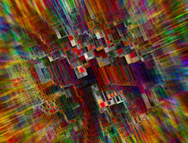 Color Squares stock images