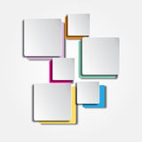 Color Squares Background Stock Image