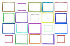 Color squares Wood Picture Frame. On white background stock illustration