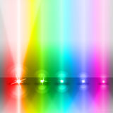 Color Stage Shows Lightsbeams Of Light And Colorful Royalty Free Stock Images