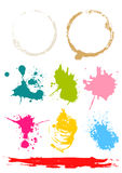 Color stains. Vector illustration of realistic stains Stock Image