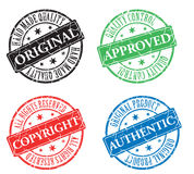 Color stamp. 4 color stamp on white background Royalty Free Stock Photos
