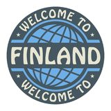 Color stamp with text Welcome to Finland inside. Vector illustration Stock Images