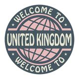 Color stamp with text Welcome to United Kingdom inside. Vector illustration vector illustration