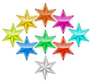 Color star Stock Photography