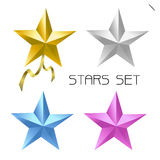 Color star set Stock Photos