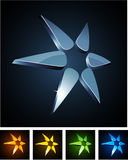 Color star vibrant emblems. Royalty Free Stock Photo