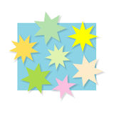 Color stars Stock Photo
