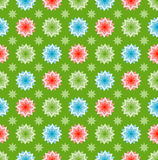 Color stars. On green, infinite background Stock Images
