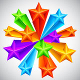 Color Stars Background Stock Images