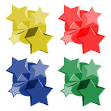 Color stars icons Stock Image