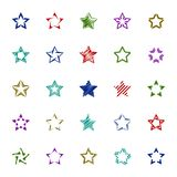 Color stars icons Stock Photography