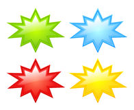 Color stars icons. Vector illustration Royalty Free Stock Images